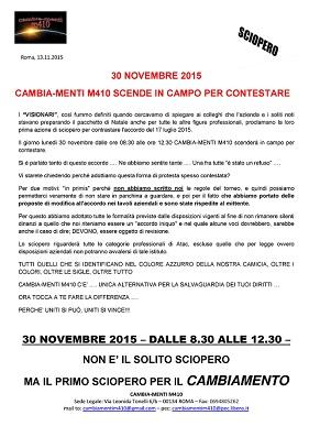 sciopero 30 novembre 20151