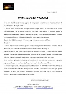 COMUNICATO STAMPA - MESSAGGERO