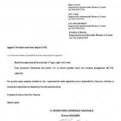 CAMBIA-MENTI M410 CHIEDE A CGIL CISL UIL E FAISA ASSEMBLEE CON TUTTO IL PERSONALE DI ATAC