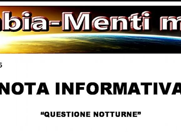 TURNI NOTTURNI: PRIMA VERTENZA IN DTL PER CAMBIA-MENTI M41O