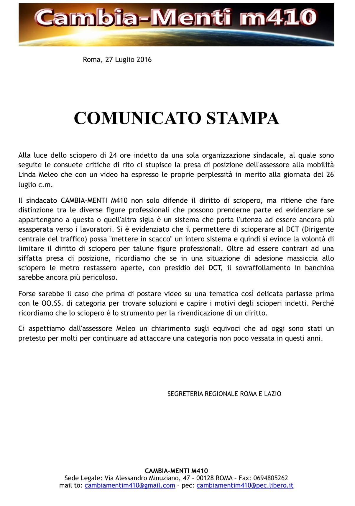 volantino comunicato assessore Linda Meleo