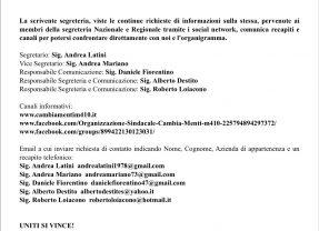 TPL PRIVATO – CAMBIA-MENTI M410 – RECAPITI E ORGANIGRAMMA Segreteria Provinciale Roma TPL scarl