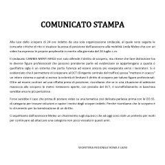 ATAC – CAMBIA-MENTI M410 – COMUNICATO STAMPA –  Diritto allo sciopero. Chiarimenti sul comunicato dell'assessore Meleo.