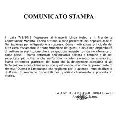 ATAC – CAMBIA-MENTI M410 – Assessore e Commissione Mobilità a Tor Sapienza