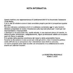 ATAC – CAMBIA-MENTI M410 – INCONTRO CON L'ASSESSORE