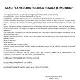 """ATAC – CAMBIA-MENTI M410 – """"LA VECCHIA POLITICA REGALA (E)MOZIONI"""""""