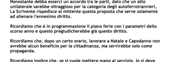 """CAMBIA-MENTI M410 – """"PACCO DI NATALE"""" agli autoferrotranvieri romani?"""