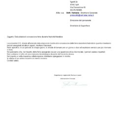 ATAC – COMUNICATO n° 0238 – DELUCIDAZIONI FERIE CONCESSE DURANTE FESTIVITA' NATALIZIE