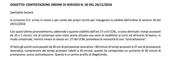 """COTRAL – CAMBIA-MENTI M410 – Ordine di servizio n 50 """"No Grazie"""""""
