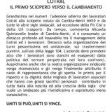 COTRAL – CAMBIA-MENTI M410 – Il primo sciopero verso il cambiamento