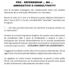 COTRAL – CAMBIA-MENTI M410 – Pro referendum per tutelare i diritti dei lavoratori