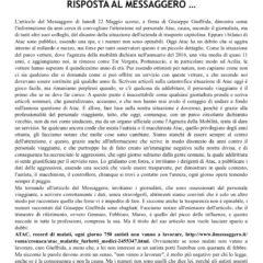 ATAC – CAMBIA-MENTI M410 – RISPOSTA AL MESSAGGERO…
