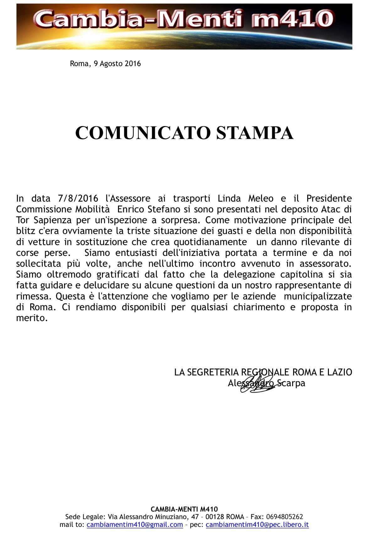 Assessore e Commissione Mobilità a Tor Sapienza